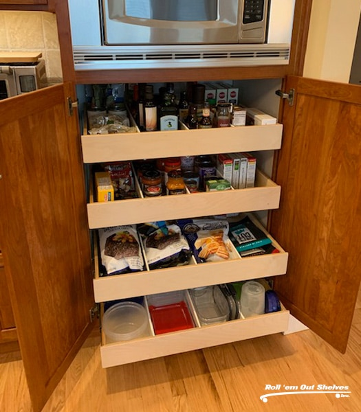 Custom Roll Out Shelves Home Improvement