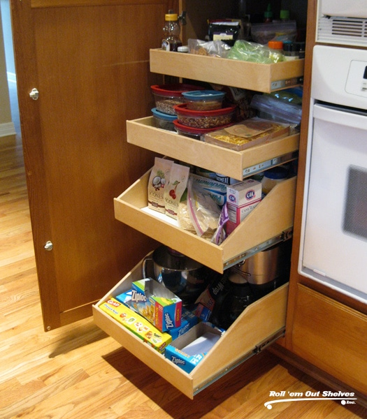 Custom Roll Out Shelving Contractor in Denver